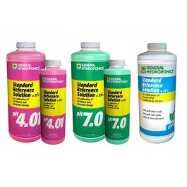 General Hydroponics pH 4.01, pH 7.01, 1500 PPM Solutions