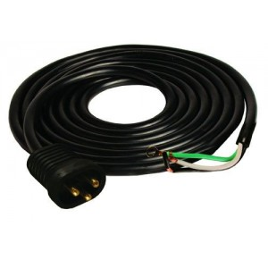 16/3 600V Male Lock & Seal Cord UL - 15 ft.