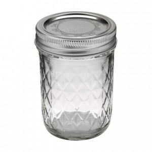 Ball Jar 8 oz Quilted Crystal - Pack of 12