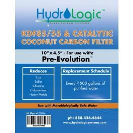 Hydro Logic PreEvolution Filter