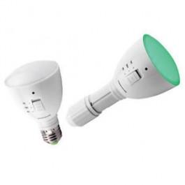 AgroLED 4 Watt Green Flashlight / Lamp AC/DC Rechargeable